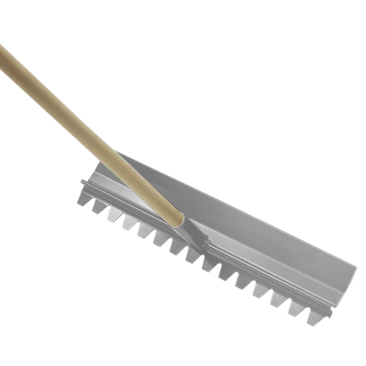 "24"" x 4"" Magnesium Concrete Rake with Handle"