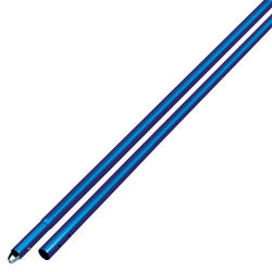 "6' Anodized Aluminum Swaged Button Handle - 1-3/4"" Diameter (Blue)"