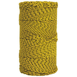 Super Tough Bonded Braided Nylon Line Yellow & Black - 685'