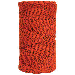 Super Tough Bonded Braided Nylon Line Orange & Black - 685'