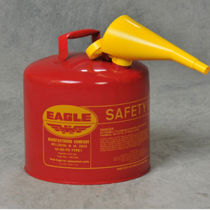 Type I Safety Can, 5 Gal. Red with F-15 Funnel