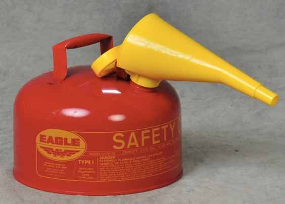 Type I Safety Can, 2 Gal. Red with F-15 Funnel