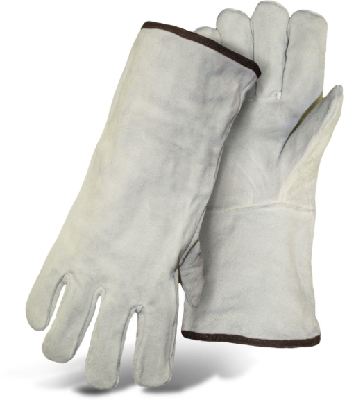GRAY LEATHER WELDER FULLY LINED
