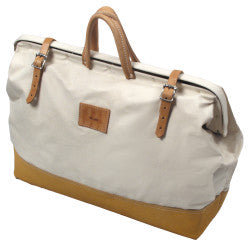 "22"" Deluxe Leather Bottom Bag"