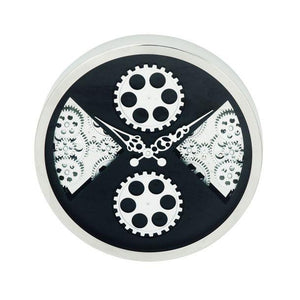 Reloj de Pared de Acero inoxidable  40.64 cm - Eugenia's Gifts Accents