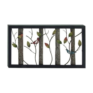 Panel Largo de Metal de Arboles y  Hojas 91.4 X 50.8 cms - Eugenia's Gifts Accents