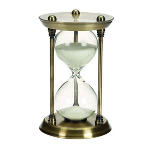 Reloj de Arena de Metal color Cobre 17.8 X 10.2 cms - Eugenia's Gifts Accents