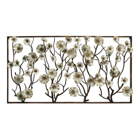 Panel de Pared de Ramas y Flores 1.83 x 1.01 Mts Horizontal - Eugenia's Gifts Accents