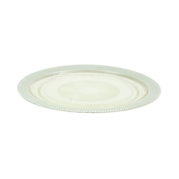 Plato Base Vidrio Plata 33 cm - Eugenia's Gifts Accents