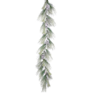 "Guirnalda Nevada Norway Pine 6' x 17"" (1.8 m x 43.2 cm) - Eugenia's Gifts Accents"