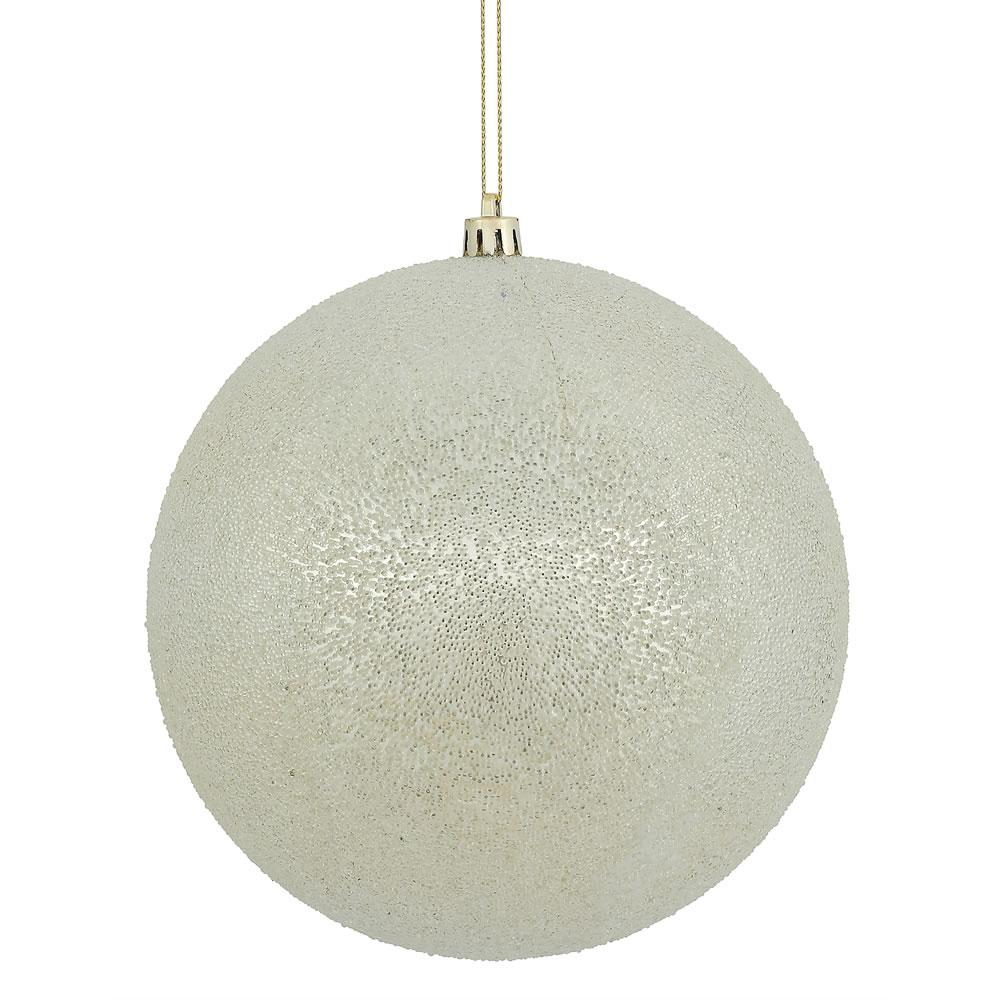 Esfera Champagne Iced Ball Chica 15.24 cm - Eugenia's Gifts Accents