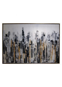 CUADRO ABSTRACTO BLACK GATE 200 cm x 140 cm x 07 cm - Eugenia's Gifts Accents