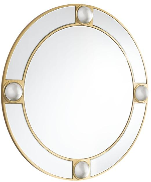 Round Lucite Mirror - Eugenia's Gifts Accents