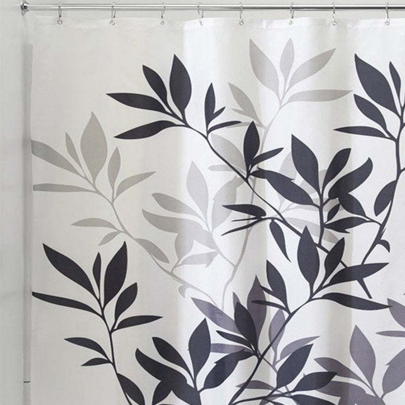 Black Leaves Shower Curtain - 3 Colors - IntendedTrends
