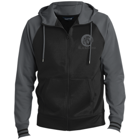 Men's Full-Zip Hooded Jacket - Grey / Black