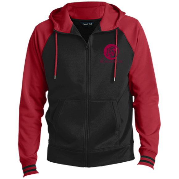 Men's Full-Zip Hooded Jacket - Black / Red