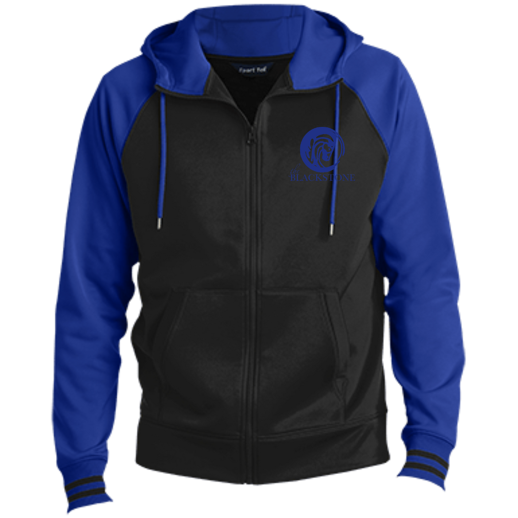 Men's Full-Zip Hooded Jacket - Black / Royal