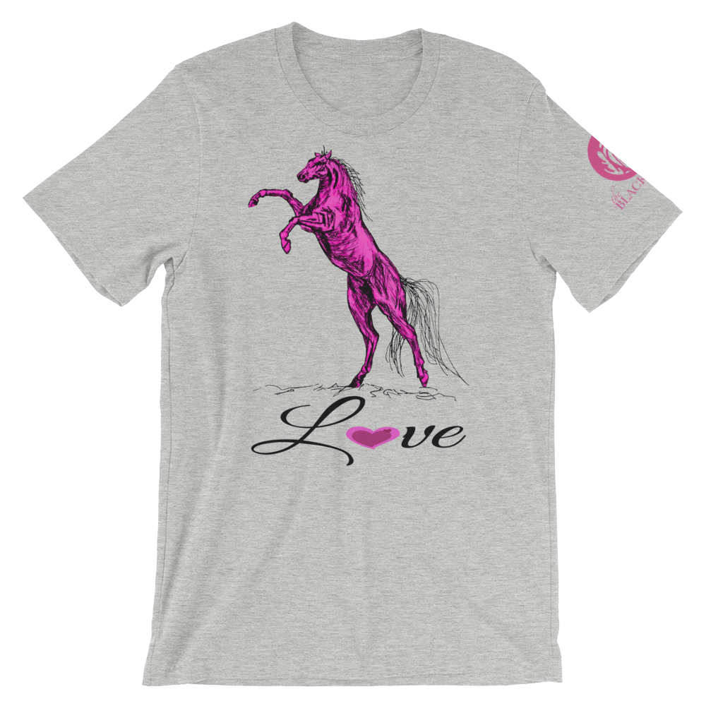 Heart Of A Stallion Adult T-Shirt - Athletic Heather