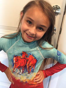 Chica's Herd Youth Rash Guard
