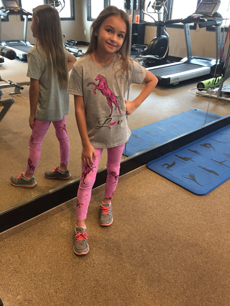 Heart Of A Stallion Youth Leggings