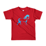 Blue Pony Toddler / Kids T-Shirt - Red