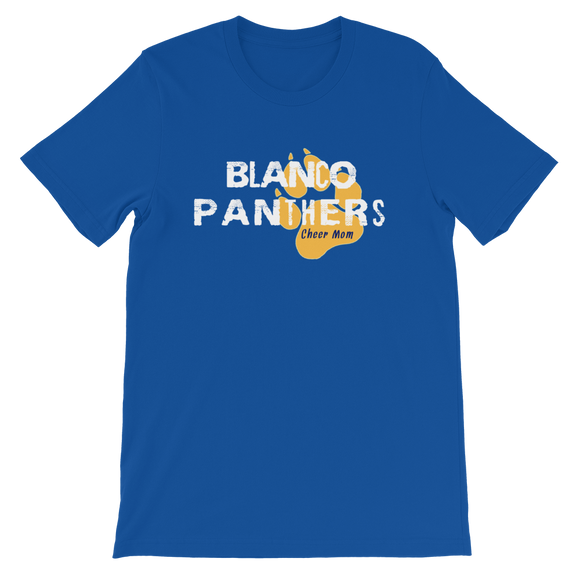 Blanco Panthers Cheer Mom Short-Sleeve Unisex T-Shirt