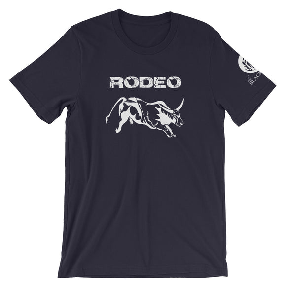Rodeo Bull Short-Sleeve T-Shirt - Navy - Unisex