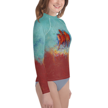 Load image into Gallery viewer, Chica's Herd Youth Rash Guard