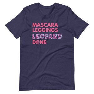 Mascara Leggings Leopard Done Short-Sleeve Unisex T-Shirt