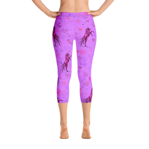 Heart Of A Stallion Capri Leggings
