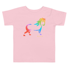 Load image into Gallery viewer, Rainbow Pony Toddler Short Sleeve Tee