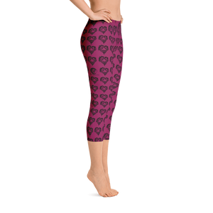 Heart Of Horses Capri Leggings