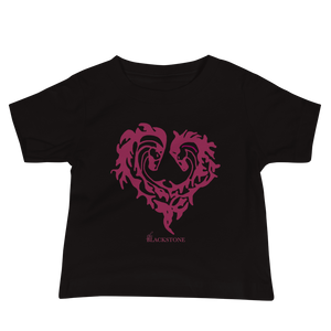 Heart Of Horses Baby Jersey Short Sleeve Tee - Black