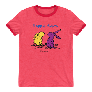 Happy Easter Ringer T-Shirt - Red