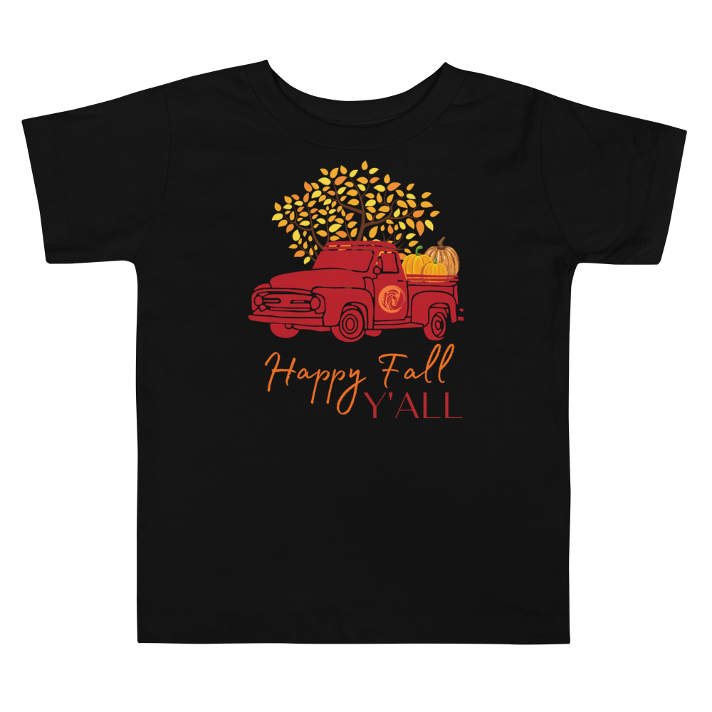 Happy Fall Y'all Toddler Short Sleeve Tee