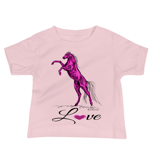 Heart Of A Stallion Baby Jersey Short Sleeve Tee - Pink
