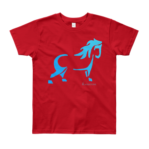 Blue Pony Youth T-Shirt - Red