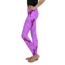 Load image into Gallery viewer, Heart Of A Stallion Youth Leggings