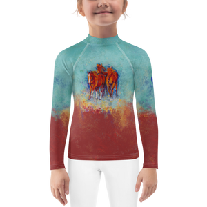 Chica's Herd Kids Rash Guard