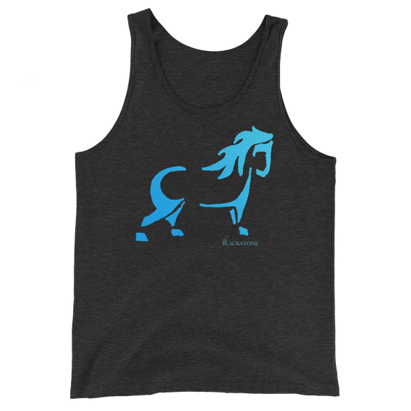 Blue Pony Unisex Tank Top