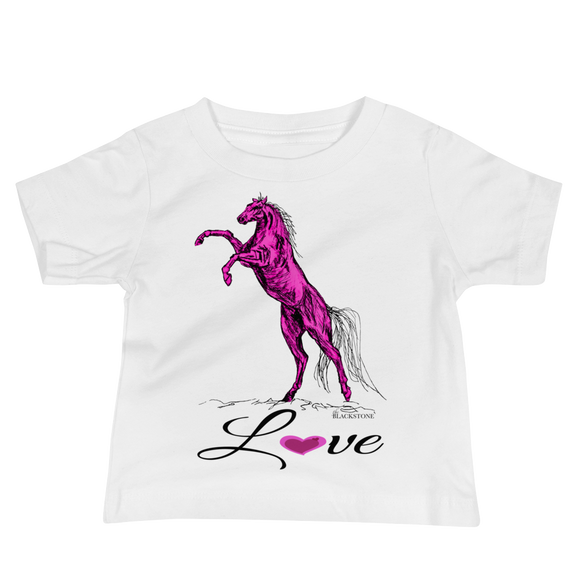 Heart Of A Stallion Baby Jersey Short Sleeve Tee - White
