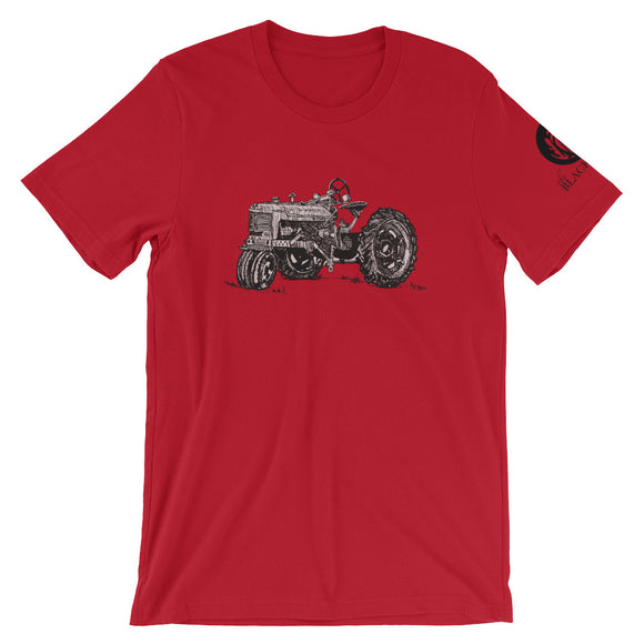 Tractor Short-Sleeve T-Shirt - Red - Unisex