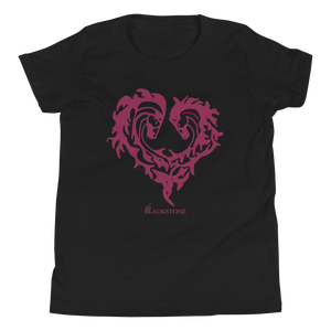 Heart Of Horses Youth Short Sleeve T-Shirt - Black