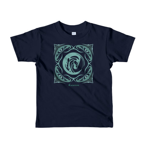 Sage Bandana Toddler/Kids T-Shirt - Navy