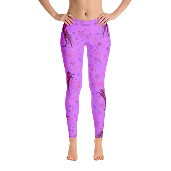 Heart Of A Stallion Adult Leggings