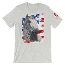 Load image into Gallery viewer, White Horse USA Flag Short-Sleeve T-Shirt