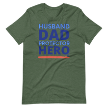 Load image into Gallery viewer, Husband Dad Protector Hero Short-Sleeve Unisex T-Shirt