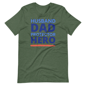 Husband Dad Protector Hero Short-Sleeve Unisex T-Shirt