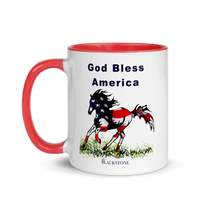 God Bless America Mug with Color Inside