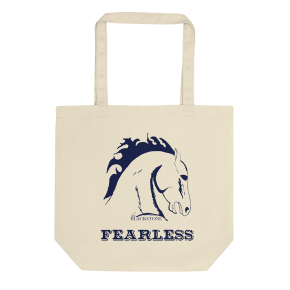 Navy Blue Fearless Eco Tote Bag